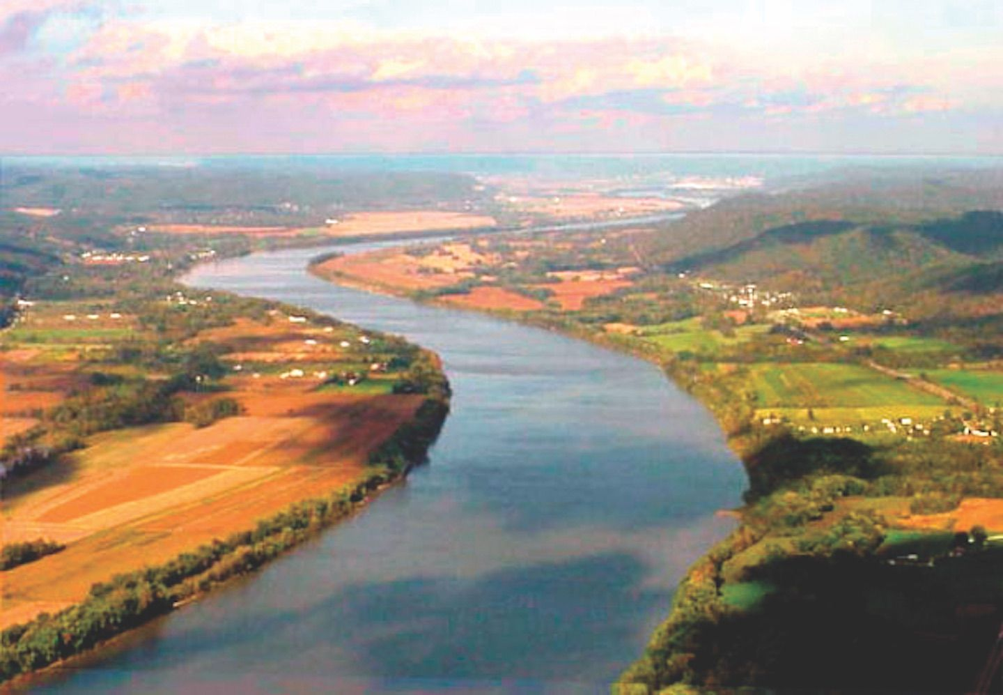 Aerial Photo of Ohio River